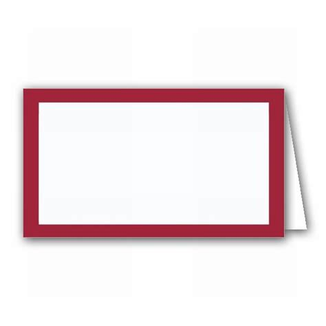Borders Gift Card - borders burgundy place cards paperstyle
