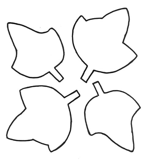 Simple Leaf Outline by Simple Leaf Outline Clipart Best