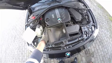 bmw  air filter   replacement youtube