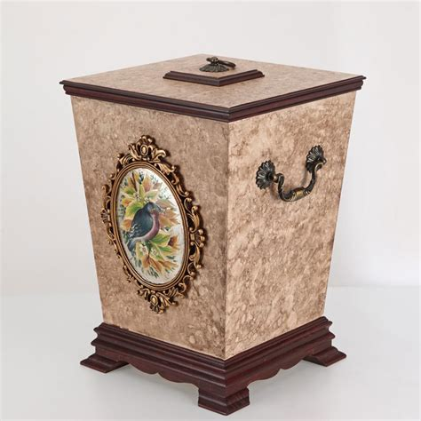 Decorative Recycling Containers For Home by Luxury Decorative Wooden Trash Cans Buy Wooden Trash