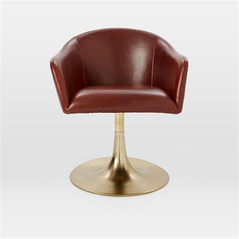 Bond Leather Swivel Office Chair West Elm West Elm Swivel Chair