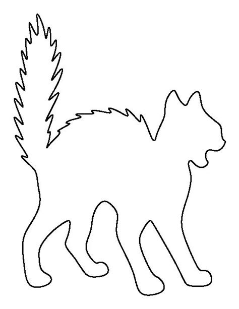 scary cat pattern use the printable outline for crafts