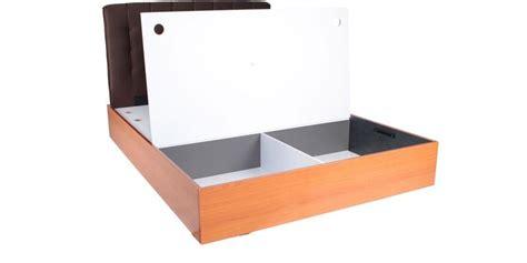 storage queen size bed  button design headrest
