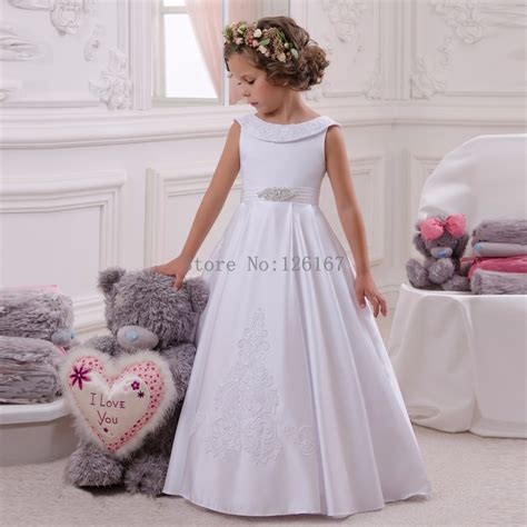 canada first communion dresses cheap first communion dresses in aliexpress com buy long stain first communion dresses