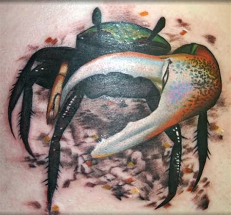 tribal cancer crab tattoo 3d cancer crab tattoos