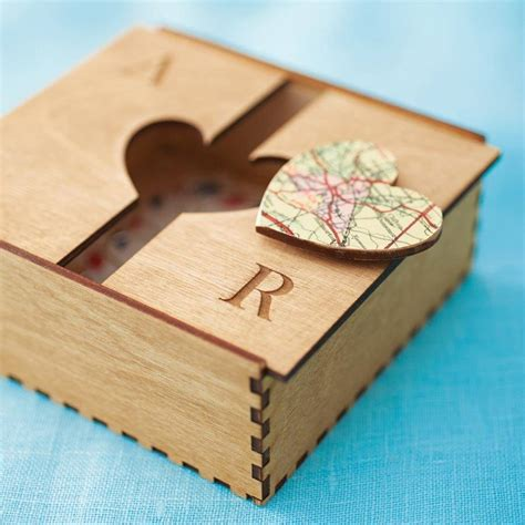 woodworking gifts for personalised map treasured location keepsake box by