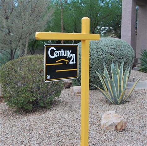 L Post by Sign Setters Company Real Estate And Realty Signpost