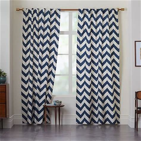West Elm Zigzag Curtain Inspiration Cotton Canvas Zigzag Curtain Blue Lagoon West Elm