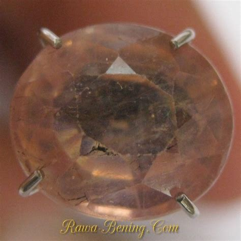 Cincin Yellow Sapphire Ah 52 batu mulia safir cantik pinkish yellow oval 3 30 carat