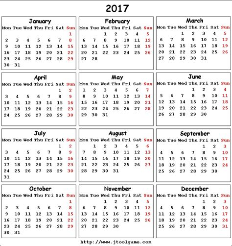printable calendar 2017 monday to sunday 2017 calendar printable calendar 2017 calendar in