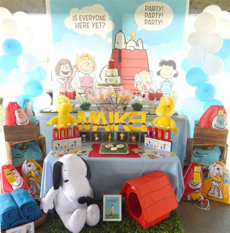 printable snoopy birthday decorations printable snoopy and friends birthday party package pdf