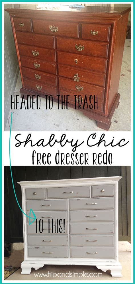 shabby chic free dresser redo hip simple