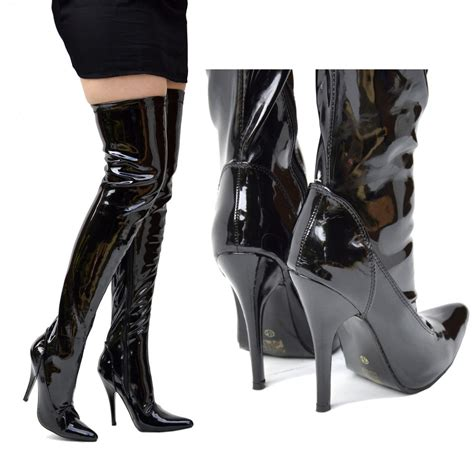 high heel boots knee high womens knee high heel stiletto thigh high