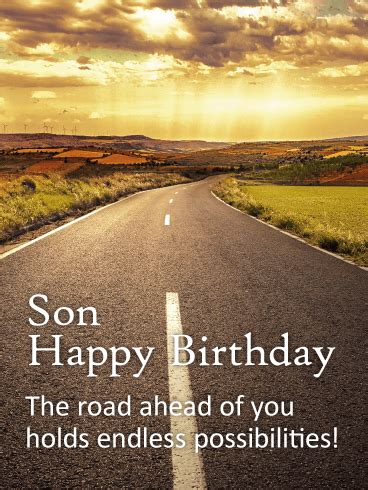 road  life happy birthday card  son birthday greeting cards  davia