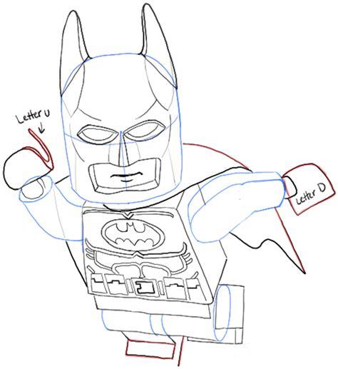 tutorial lego batman how to draw lego batman minifigure with easy step by step