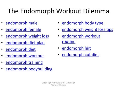 the endomorph workout dilemma