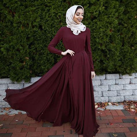 Baju Terusan Wanita Muslim Longdress Autum Maxy maroon arya dress beige modal inayahc inayah occasionwear islamic clothing