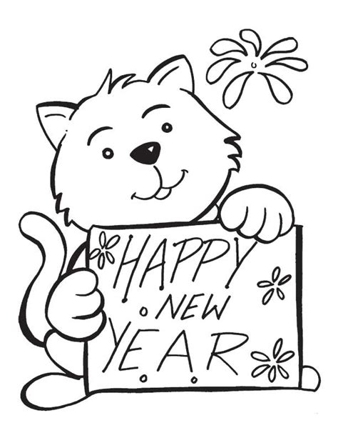 new year colouring posters cat with new year poster coloring pages coloring