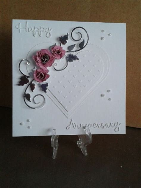 Handmade Silver Wedding Anniversary Cards For Husband - handmade wedding anniversary cards uk wedding invitation