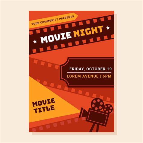 night poster   vectors clipart