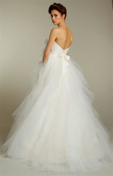 Tulle Wedding Dresses by Tulle Strapless Gown Wedding Dress From Fall