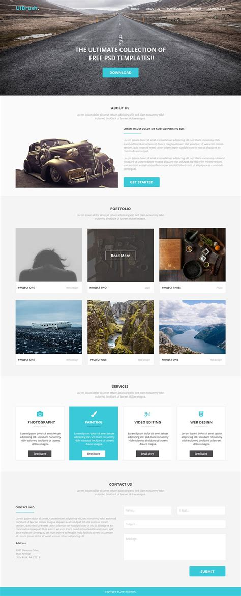 Latest Free Web Elements From November 2014 Free Simple Web Page Templates