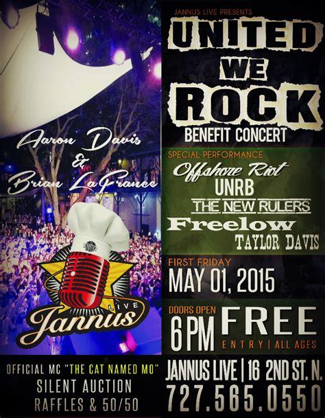 san holo jannus united we rock benefit concert st petersburg clearwater