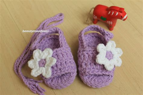 Handmade Crochet Baby Shoes - baby shoes handmade crochet sandals infant