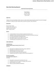 new grad nursing resume objective new grad nursing resume