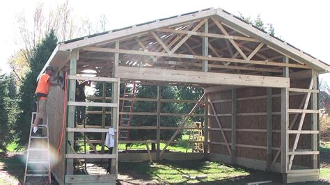 diy pole barns shedgarage construction lp smartside