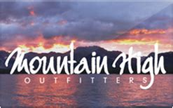 Mountain High Gift Cards - sell mountain high outfitters gift cards raise