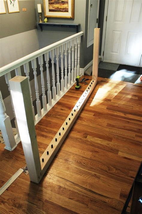 diy railing diy stair handrail with industrial pipes and wood
