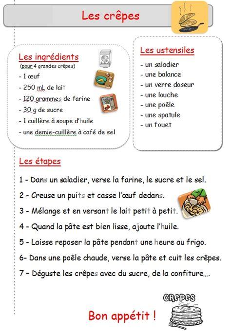 recette cuisine en anglais cp ce1 la chandeleur ecole st paul le ch 226 teau d olonne