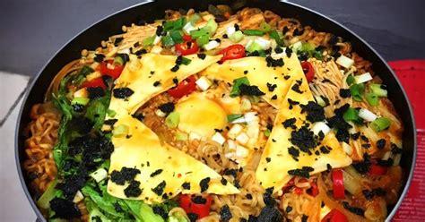 resep mie ramen jamur enoki enak  sederhana cookpad