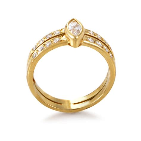 cartier gold engagement ring at 1stdibs