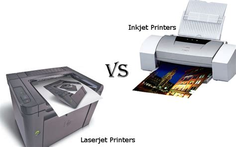 Printer Laser Inkjet which to choose in laserjet printers vs inkjet printers