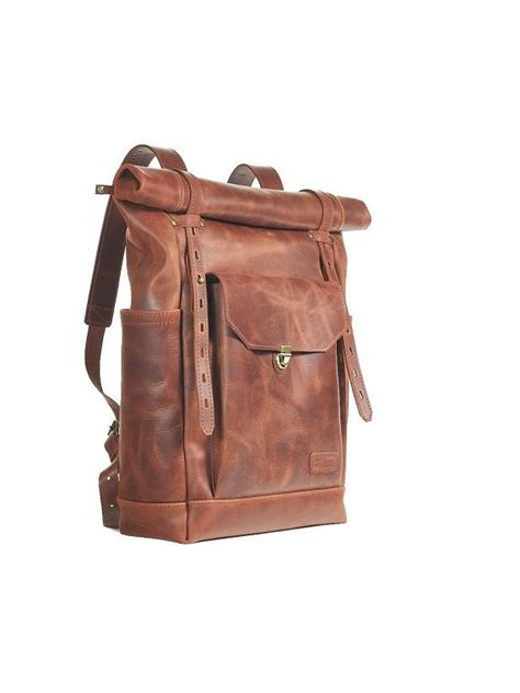 S Leather Backpack Brown brown leather backpack mens womens backpack