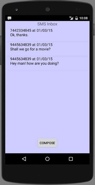 android studio receive sms tutorial android sms app tutorial java tutorial blog