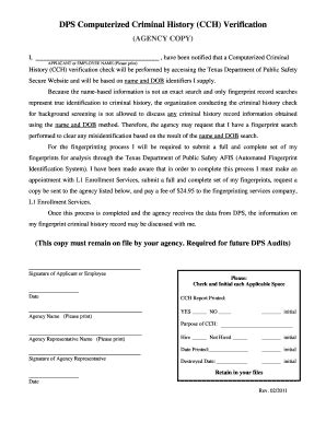 Tx Dps Background Check Txdps Criminal Background Check Fill Printable Fillable Blank Pdffiller