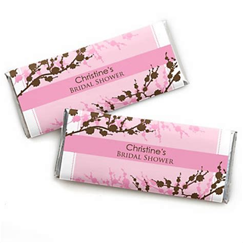 bar bridal shower favors cherry blossom personalized bridal shower bar