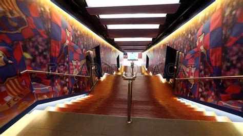 Fc Barcelona Room by C Nou Unveils Remodeled Dressing Room Tunnel
