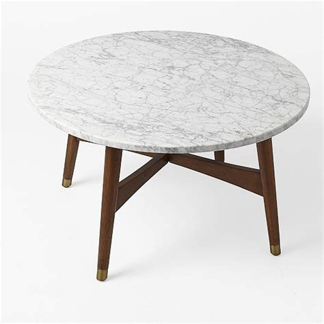 West Elm Marble Coffee Table Reeve Mid Century Coffee Table Marble