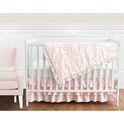 pink and gold crib bedding sweet jojo designs amelia crib bedding collection in pink