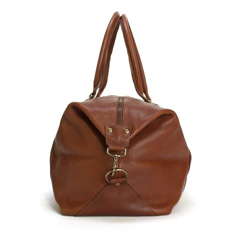 The Knoxx Roan Weekend Handbag by Bronson Weekender L All Leather Weekend Bag Blue Claw Co