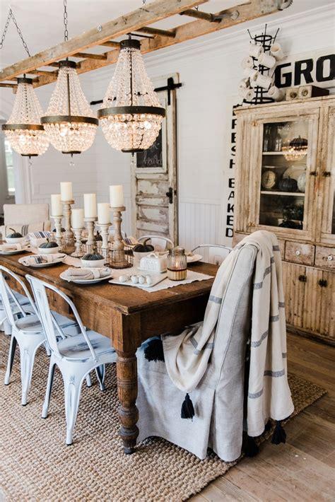 farmhouse style dining simple neutral fall farmhouse dining room liz