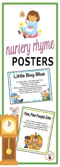 every child posters and rhyme nursery rhyme posters