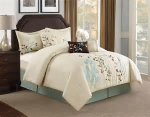 beige comforter sets 7 beige floral embroidered comforter set ebay