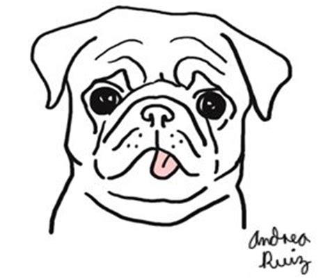 simple pug drawing pug ashamed pencil and in color pug ashamed