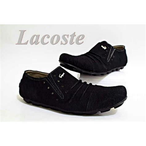 Sepatu Lacoste Slop Suede jual sepatu crocodile lacoste kulit pria terbaru slop