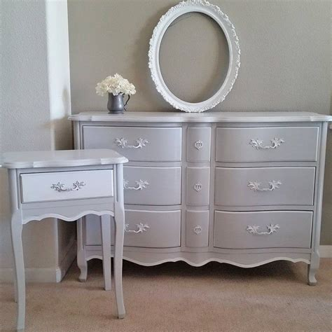 grey dresser bedroom bedroom dresser and end table set in a seagull gray and